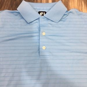 Men's Footjoy striped blue golf polo size medium